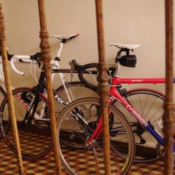 Fraaie stalling voor de fietsen