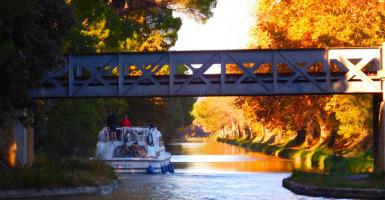 Sfeervol plaatje van het Canal du Midi