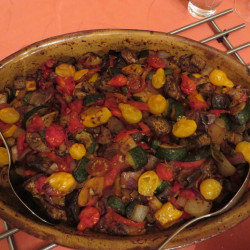 Color on the table d'hôtes with this ratatouille