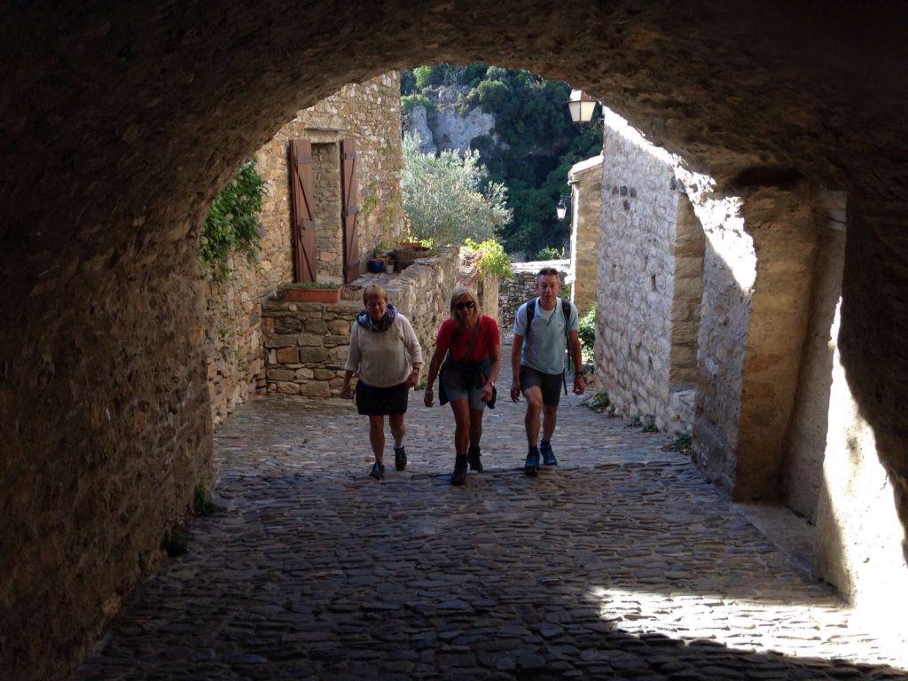 Pittoreske straatjes in Minerve